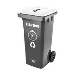 Recolector Ecológico. Clasificados con colores y logos para el reciclaje.