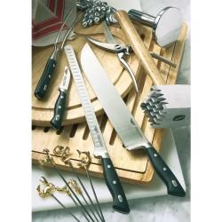Cuchillo para jamón, con alvéolos