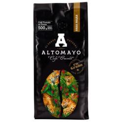 CAFÉ ALTOMAYO TOSTADO EN GRANO CAJA X 10 UND BOLSA DE 500GR C/U